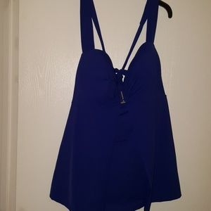 NEW WITH TAGS CACIQUE 46DD BLUE SWIM TOP